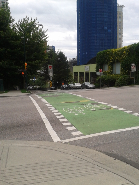 Dedicated bike lanes run all over the city.