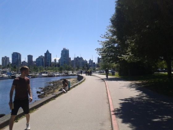 Stanley Park is full of cyclists, many are tourists who benefit from the many bike rental shops.